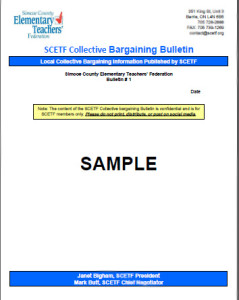 Bulletin Sample